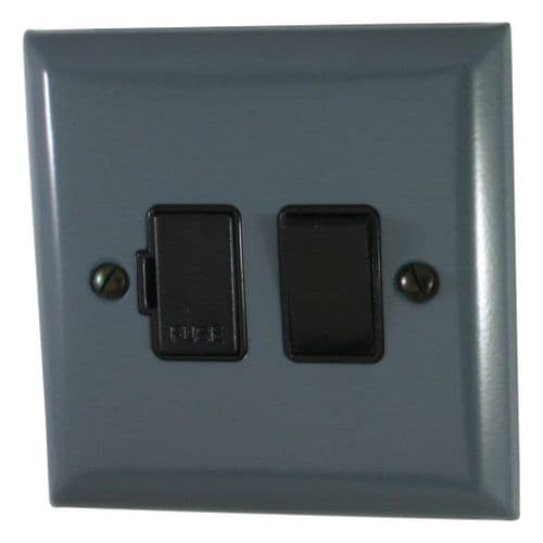 G&H SDG57B Spectrum Plate Dark Grey 1 Gang Fused Spur 13A Switched